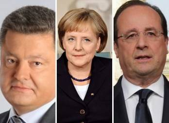 Poroshenko, Merkel, Hollande discuss prospects for elections in Donbas, confirm sanctions on Russia still in force