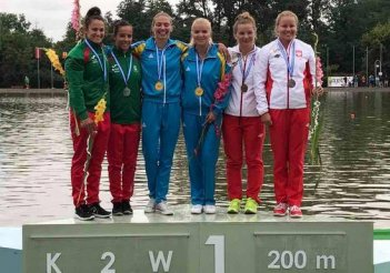Ukrainian sportswomen take gold at European Rowing and Canoeing Championship