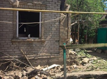 At least nine houses in Zaitseve damaged by enemy's artillery strike