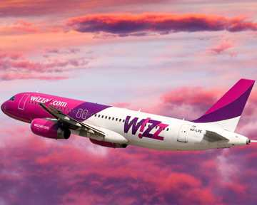 WizzAir raises traffic on Ukrainian flights by almost 65% in 2017