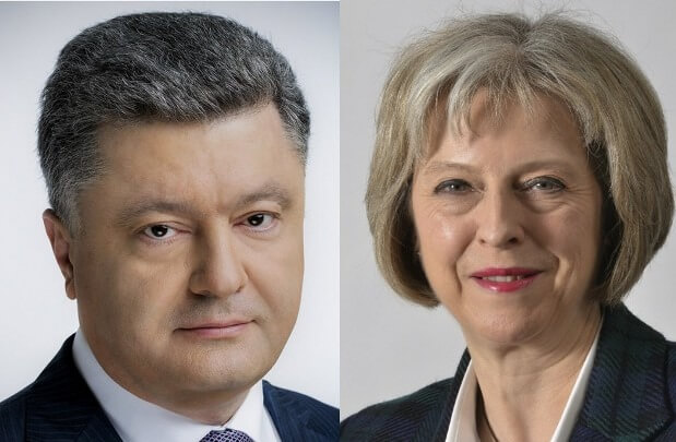 Poroshenko to talk with British PM May on Thursday