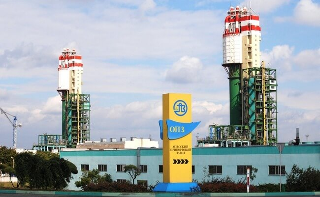 Odesa port-side plant rests responsibility for April debts for gas on All-Ukrainian Energy Company