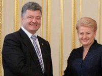 Poroshenko, Grybauskaite sign road map for developing strategic partnership between Ukraine, Lithuania