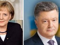 Poroshenko, Merkel discuss upcoming meeting of 'Normandy format' foreign ministers over phone