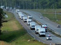 Another 50 Russian humanitarian trucks reach Ukrainian border