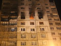 Three people killed in explosion and fire in Kharkiv high-rise building