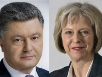 Poroshenko, May discuss confrontation of Russian aggression prior to G7 summit