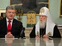 Poroshenko congratulates Patriarch Filaret on 23rd anniversary of enthronement