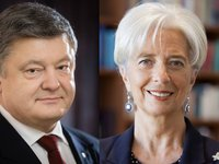 Poroshenko, Lagarde discuss financial situation in Ukraine, express concern about situation with PrivatBank