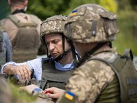 Zelensky inaugurates Demining Center in Donbas