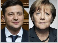 Zelensky, Merkel expect progress in disengagement in Donbas
