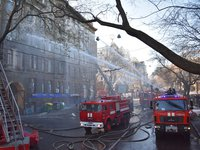 Police detect first suspects in Odesa college fire case