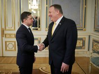 Zelensky, Pompeo discuss receiving credit guarantees from U.S. to stabilize economy in addition to assistance from IMF, WB and other partners