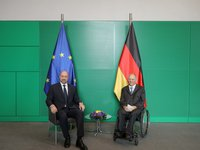 Shmyhal stresses geopolitical threat of Nord Stream 2 during meeting with President of Bundestag