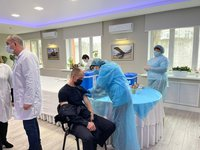 Vaccination of Interior Ministry employees against COVID-19 starts in Ukraine