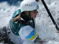 Ukrainian athlete Us takes eighth place in women's rowing slalom at Tokyo Olympics