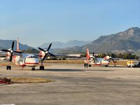 Aviation of Ukraine's Emergency Service carries out first discharges of water to centers of forest wildfires in Turkey