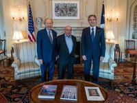 U.S. Secretary of State, head of Supervisory Board of Babyn Yar Memorial hold meeting